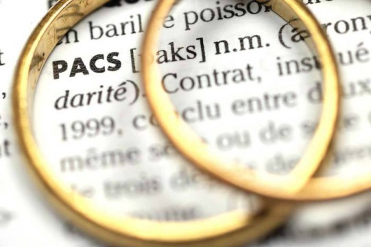 Pacs : Enregistrement en Mairie